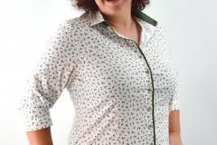 Bluse mit Kirschendruck