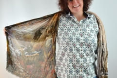 Damen Bluse mit Schal