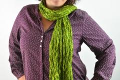 Bluse bordo mit Schal