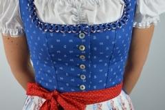 Dirndl Baumwolle blau