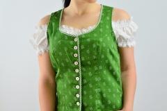 Lederhose Gilet grün