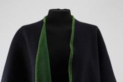 Umhang dunkelbau/hellgrün