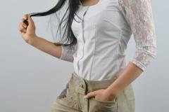 Damenlederhose Bluse