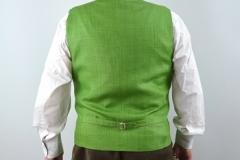 Leinengilet grün Rücken