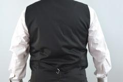 Leinengilet grasgrün Rücken