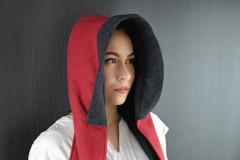Kapuze und Schal