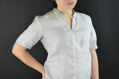 Leinen-Bluse