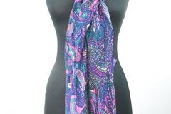 Schal mit Paisley blau