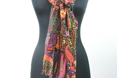 Schal mit Paisley schwarz