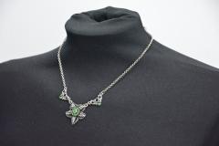 Halskette Blatt Grün