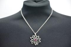 Halskette Blume Fuchsia