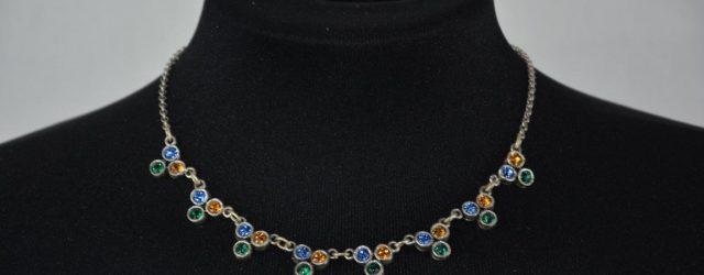 Trachtenschmuck - dreifärbiges Halsband