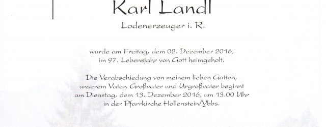 Parte Karl Landl