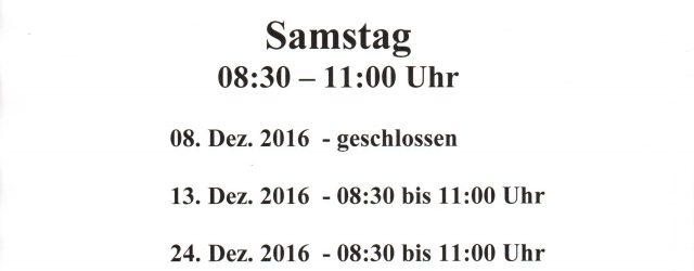 Öffnungszeiten 2016