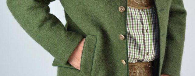 Hirschlederhose mit Jagd Walkjanker dazu passendem Hemd und Hut